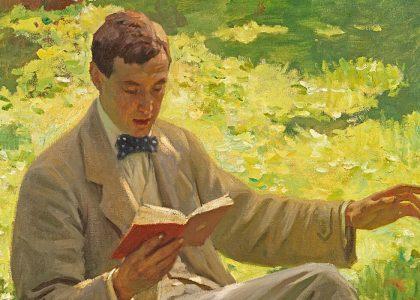 Alfred Munnings leyendo, de Harold Knight, ca. 1910