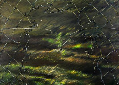 paisaje con retrovisor II, de diana dowek