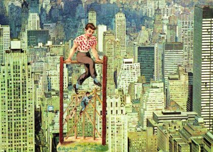 acróbatas, collage de john ashbery, ca. 1972