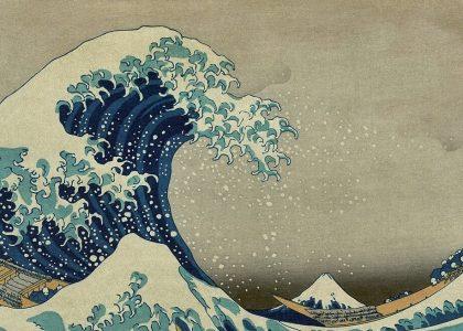 la gran ola de kanagawa de Katsushika Hokusai