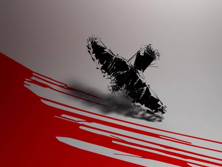 Aviones sobrevolando un monstruo